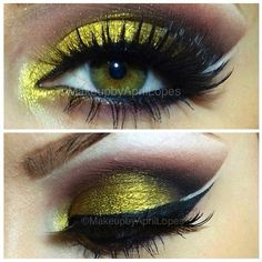 .@House of Lashes | Striking Yellow/Gold Eye by @April Lopes Lashes are #houseoflashes Noir ... | Webstagram - the best Instagram viewer