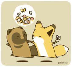 埋め込み Fuchs Illustration, Cute Kawaii Animals, Spyro The Dragon, Kawaii Chibi, Cute Fox, Anime Animals, The Villain, Cute Cartoon, Cute Drawings