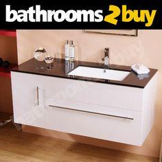 Vada 1200mm Wall Mounted Bathroom Vanity Cabinet Unit - Luxury Basin Wall Hung