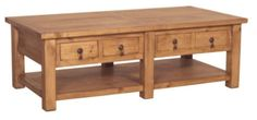 Mexican Rustic Pine Coffee Table