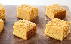 Quinoa Cornbread - This gluten-free updated version of classic cornbread has more flavor and texture than most, thanks to the cooked quinoa folded into the batter and sprinkled on top. Plus, quinoa is a healthy whole grain! Serve squares of it underneath, alongside or crumbled on top of beans, soup, chili, greens or roasted veggies.
