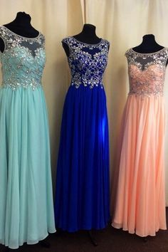 Real Made A-Line Beading Chiffon Real Made Prom Dresses,Evening Gowns,Evening…