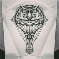 #airballon #tattoo #flash
