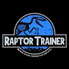 Raptor Trainer T-Shirt $12.99 Jurassic World tee at Pop Up Tee!