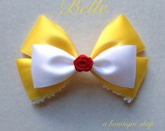 Etsy の white rabbit hair bow by abowtiqueshop