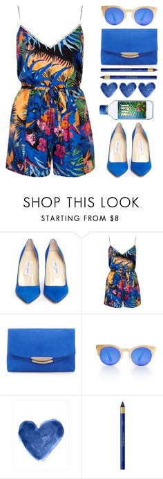 """""""ROYG[B]IV"""" by chezamanda ❤ liked on Polyvore featuring Jimmy Choo, River Island and L'Oréal Paris"""