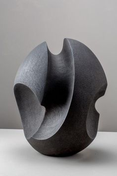 Black ceramic form