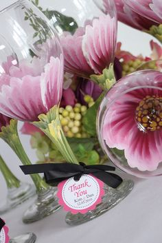 Wedding reception glassware by judipaintedit, via Flickr