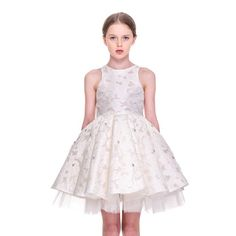 """""""Our Most Favourite 'The Sparkling Crystals' dress from Mischka Aoki SS15 Collection. Available at Bergdorf Goodman NY for US $1,845 @bergdorfs"""""""