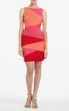 ba4fcb9b09b9 BCBG Max Azria Red Debra Color-Blocked Dress -  166.00   Herve Leger  Dresses Outlet