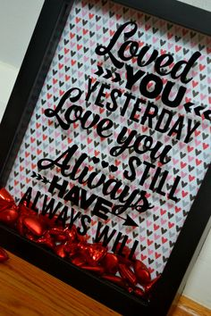 Valentine's Day Shadow Box by Simplybannerlicious on Etsy