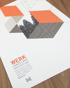 Kelly Kerwick // WERK Landscape Architecture #graphicdesign #poster #printdesign
