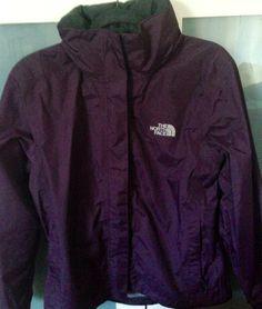 Womens north face purple waterproof coat