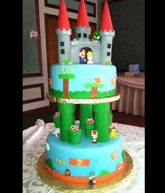 Mario World #Wedding #Cake