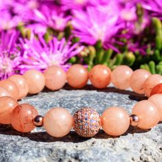Pink Aventurine Gemstone Bracelets make the perfect Mother's Day gift! More colors and styles available, shop now!