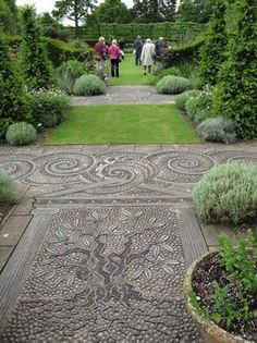 pebble pathways, exquisite, such fine work. They add such interest to any garden.