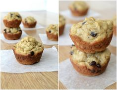 Peanut Butter Banana Chocolate Chip Oatmeal Muffins. Made these this morning with Grace. They are delish!