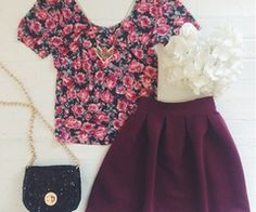 •Floral print and skater skirts•