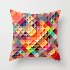 Abstract colorful Throw Pillow by studio VII - $20.00 - buy here: http://society6.com/vivinicolin/Abstract-colorful_Pillow