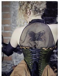 Natura Gown with hand embroideried wings- Amazing~