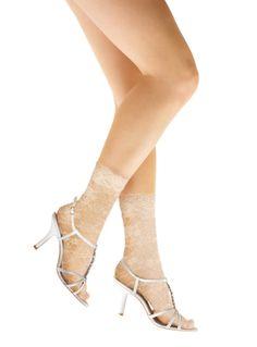 Ivory lace socks!