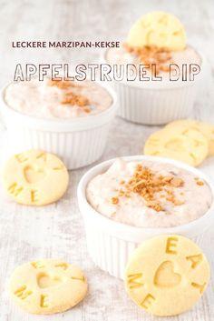 Dip Rezepte - Apfelstrudel für Faule. Schnell gemacht und zu Keksen einfach göttlich. Rezept von herzelieb #foodblog #deutsch #foodblogger