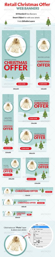 Retail Christmas Offer Web Banners Template PSD | Buy and Download: http://graphicriver.net/item/retail-christmas-offer-web-banners/6163158?WT.ac=category_thumb&WT.z_author=ashoka27&ref=ksioks