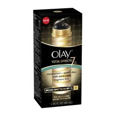 Olay Total Effects Moisturizer Plus Serum Duo Fragrance Free with SPF 15, 1.35 fl oz