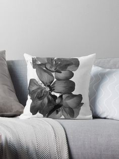 Enjoy 15% OFF With Any 2 Pillows! Throw pillow Geranium in black and white by ARTbyJWP via Redbubble. Features Vibrant double-sided print throw pillows to update any room Independent designs, custom printed when you order Soft and durable 100% Spun Polyester cover with an optional Polyester fill/insert Concealed zip opening for a clean look and easy care #homedecor #decoration #cushion #pillows #shop #redbubble #blackandwhite
