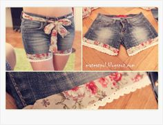Heart in the Clouds: Tutorial : Make lace shorts