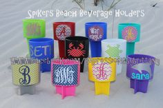 Get ready, Spring Break 2015 is coming. Get your Personalized Spiker Beach Beverage Holder, be ready - enjoy your beach :)