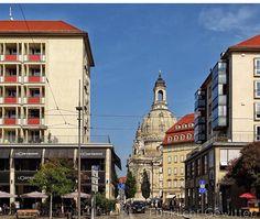 Blick auf Frauenkirche von Wilsdruffer Straße aus