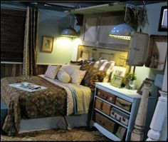A unique travel themed storage idea...Decorating theme bedrooms - Maries Manor: travel theme decorating ideas - global decor - world travel decorating