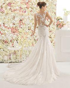 CALAIS vestido de novia Aire Barcelona 2017