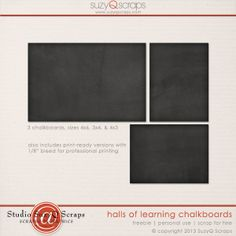 free chalkboard journal cards, great for school layouts, both digital & traditional scrapbook pages