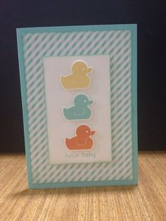 Stampin' Up! Something for baby Baby boy congratulations card See more of my creations at www.facebook.com/jessicamarchesanistamps
