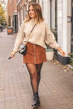 Mode Outfits, Skirt Outfits, Casual Summer Outfits, Fall Outfits, What To Wear Tomorrow, Winter Skirt Outfit, Inspiration Mode, Streetwear, Skirt Fashion