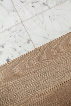 #Wood to #Marble transition | #white #oak plank border