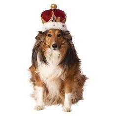 Rubies King Crown Pet Costume