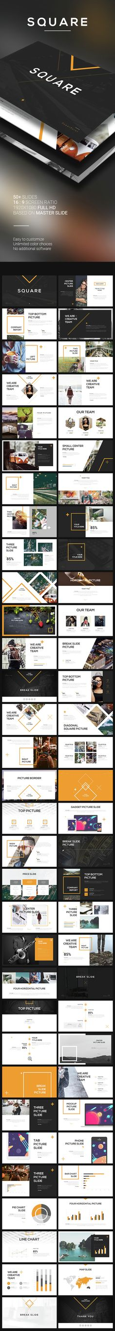 Square PowerPoint Template