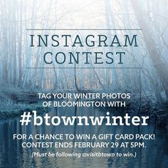 We've got flurries in the forecast so grab your camera and snap some #btownwinter pics for a chance to win!