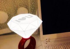 Siempre Quise Uno: Lámpara en forma de anillo - I Love U - Kichink!