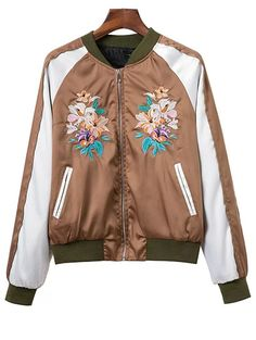 SHARE & Get it FREE | Color Block Floral Embroidered Stand Neck JacketFor Fashion Lovers only:80,000+ Items • New Arrivals Daily Join Zaful: Get YOUR $50 NOW!