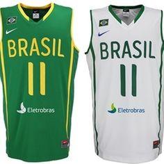 Uniformes da Nike da seleção brasileira de basquete