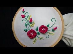 Hand Embroidery: Detached 3D Flower Stitch (Christmas Theme) - YouTube