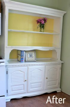 I love the yellow background...you should see the before!  Awesome paint tips!