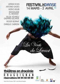 Festival de Danse Les Vents du Levant. Du 13 mars au 2 avril 2014 à draguignan.