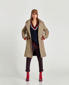 Vegan Coat. ZARA - WOMAN - CHECKED TRENCH COAT