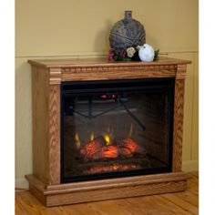 #Amish Medium Hearth #Mantel #Fireplace ~ Http://electricfireplaceheater.org