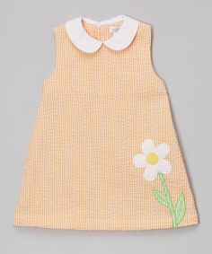 Another great find on #zulily! Orange Flower Collared Shift Dress - Infant & Toddler #zulilyfinds
